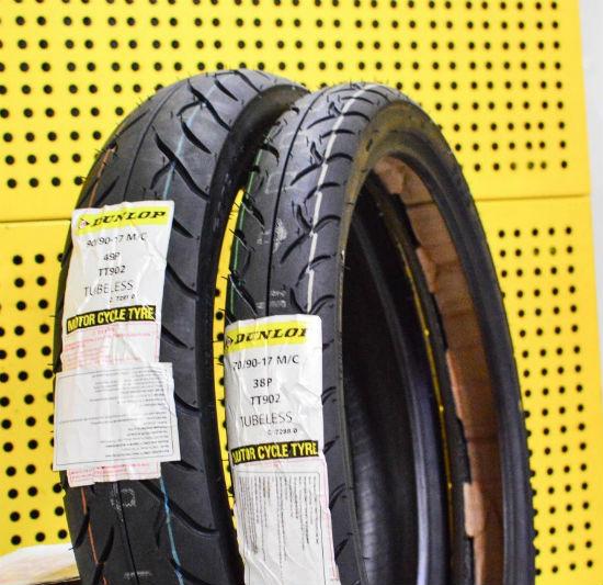 VỎ XE DUNLOP TT902-GT501 trước 70/90-17 TL - sau 110/70-17 TL