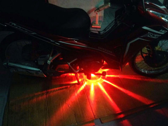Đèn gầm xe máy 48 tia màu xanh, đỏ, vàng, tím, trắng