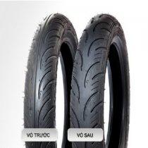 VỎ XE YOKOHAMA E500-10 Vỏ trước 100/90-10 TL, vỏ sau 100/90-10 TL